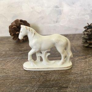 Porcelain Horse Figurine Decor Vintage Japan